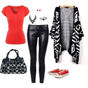 """The red and the black"" by elocin73 on Polyvore"
