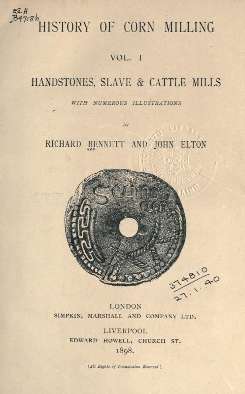 History of corn milling .. (1898) ~ volume 1