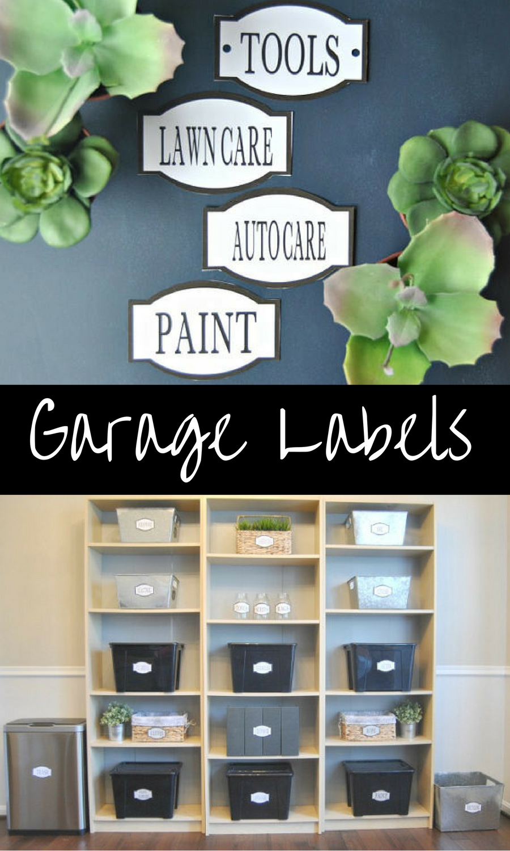 Pdf Garage Labels Printable Organization Labels Garage Organization Auto Labels Shed Organiz Organizing Labels Shed Organization Organization Printables