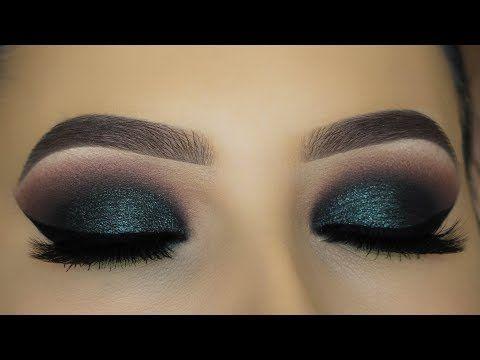 Intense Green Smokey Eyes Makeup Tutorial! - YouTube MAKE UP