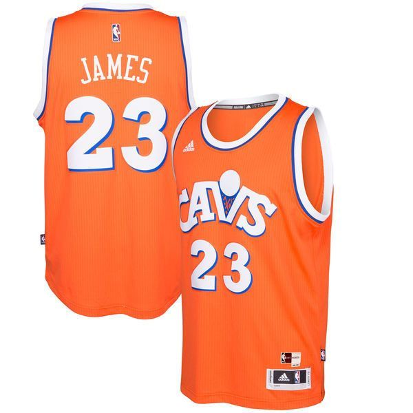 Men s Cleveland Cavaliers LeBron James adidas Orange Hardwood Classics  Swingman Player Jersey a728a4c16
