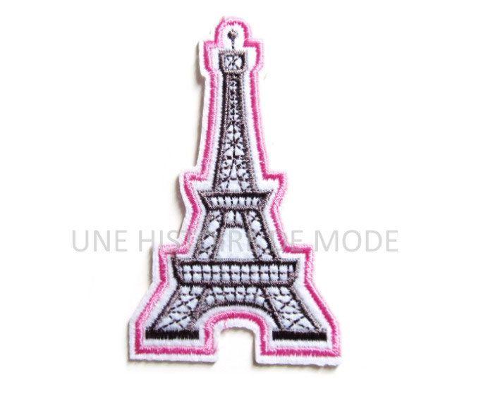Patch écusson patche Tour Eiffel Paris souvenir thermocollant brodé