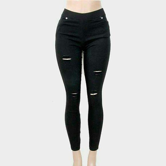 """Ripped Skinny Jeggings Ripped Skinny Jeggings. Size : 13"""" W(Waist-Stretchable), 37"""" L. Material : 90% Cotton / 10% Spandex Pants Leggings"""