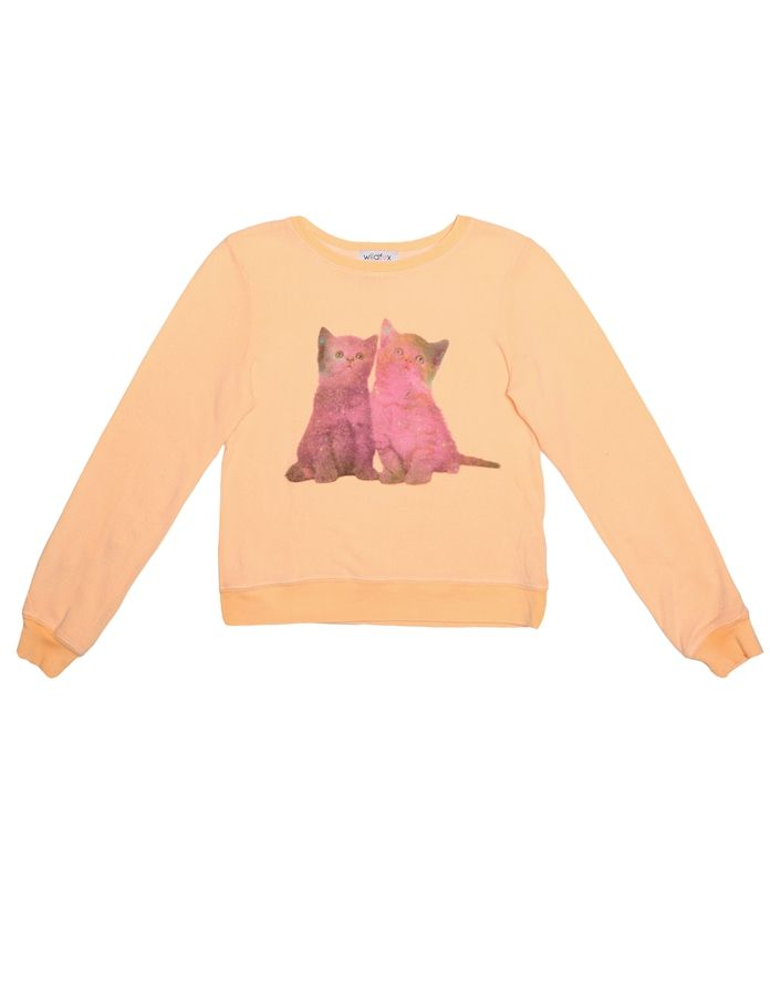 Wildfox Kids Stargazers Baggy Beach Jumper in Peach Puff