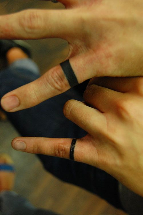 a991cb1f1 Simple Ring Finger Tattoos multiple fingers of course.. Like a gypsy ...