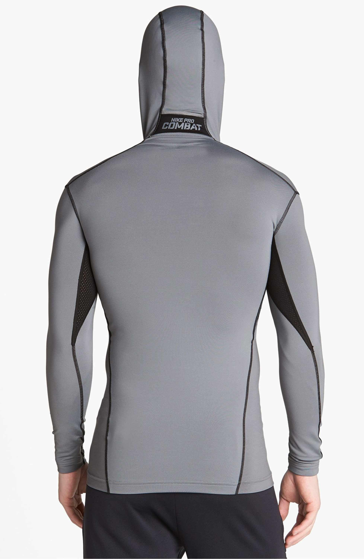 Main Image - Nike  Pro Combat - Hyperwarm Dri-FIT Max  Hooded Compression  Top 69209b6a727b