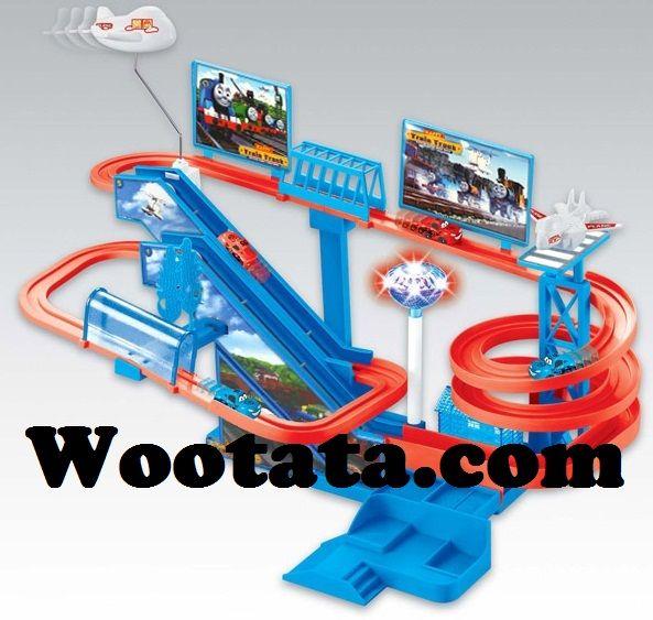 Mainan Thomas And Friends Racing Track Permainan Anak Laki Laki Keren Mobil Balap Anak Laki Laki Terapi Bermain