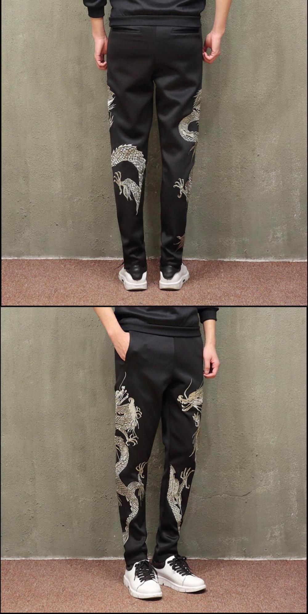 9d71d7bd85b M-5XL NEW men s casual embroidery harem pants plus size trousers loose pants  Elasticity trousers
