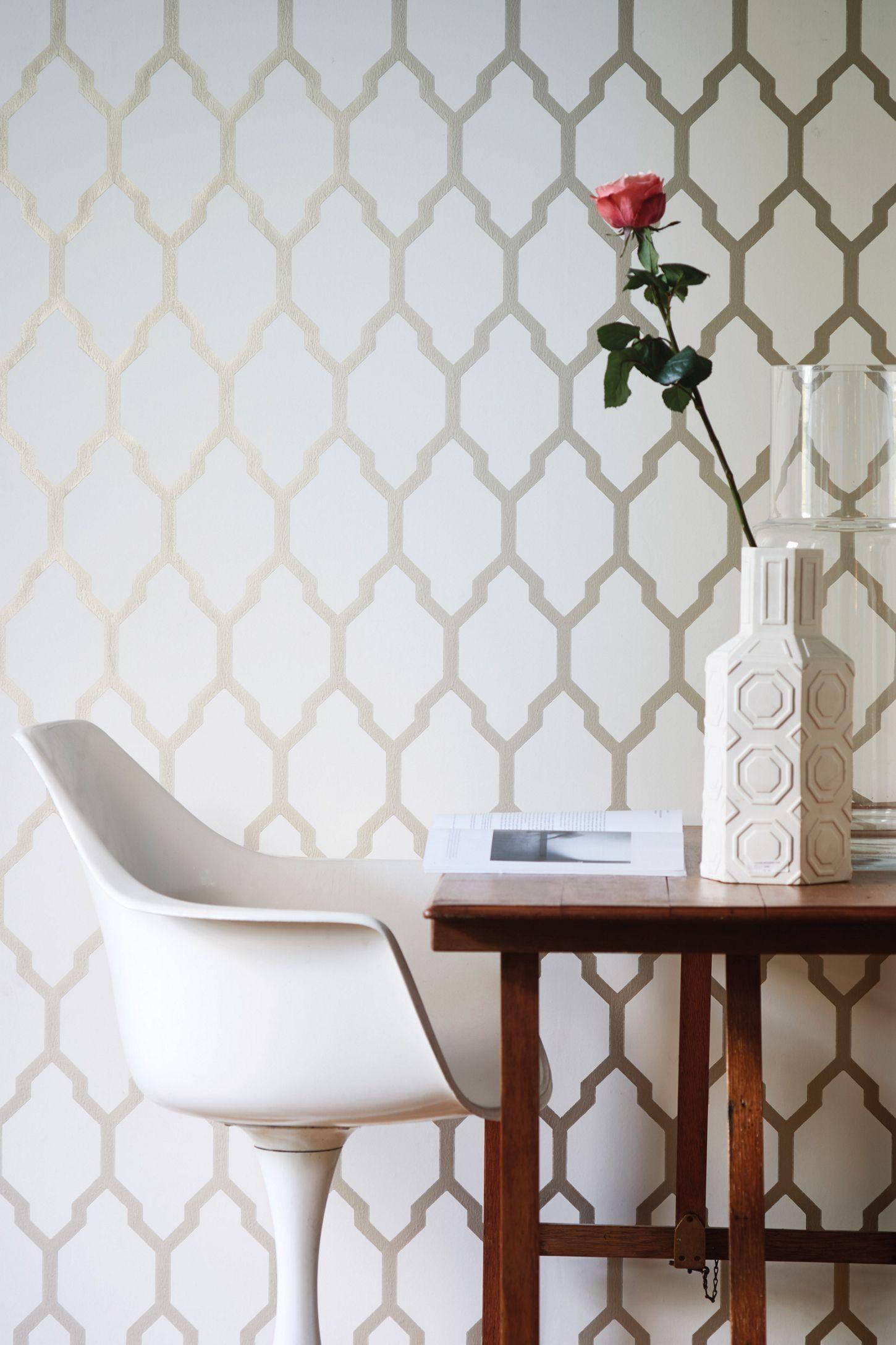 Farrow Ball Tessella Wallpaper Metallic Wallpaper Farrow