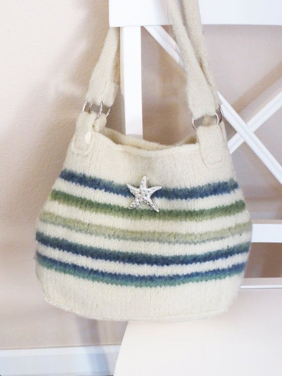 Knit Bag Pattern Felted Purse Called Iris By Deborarypatterns