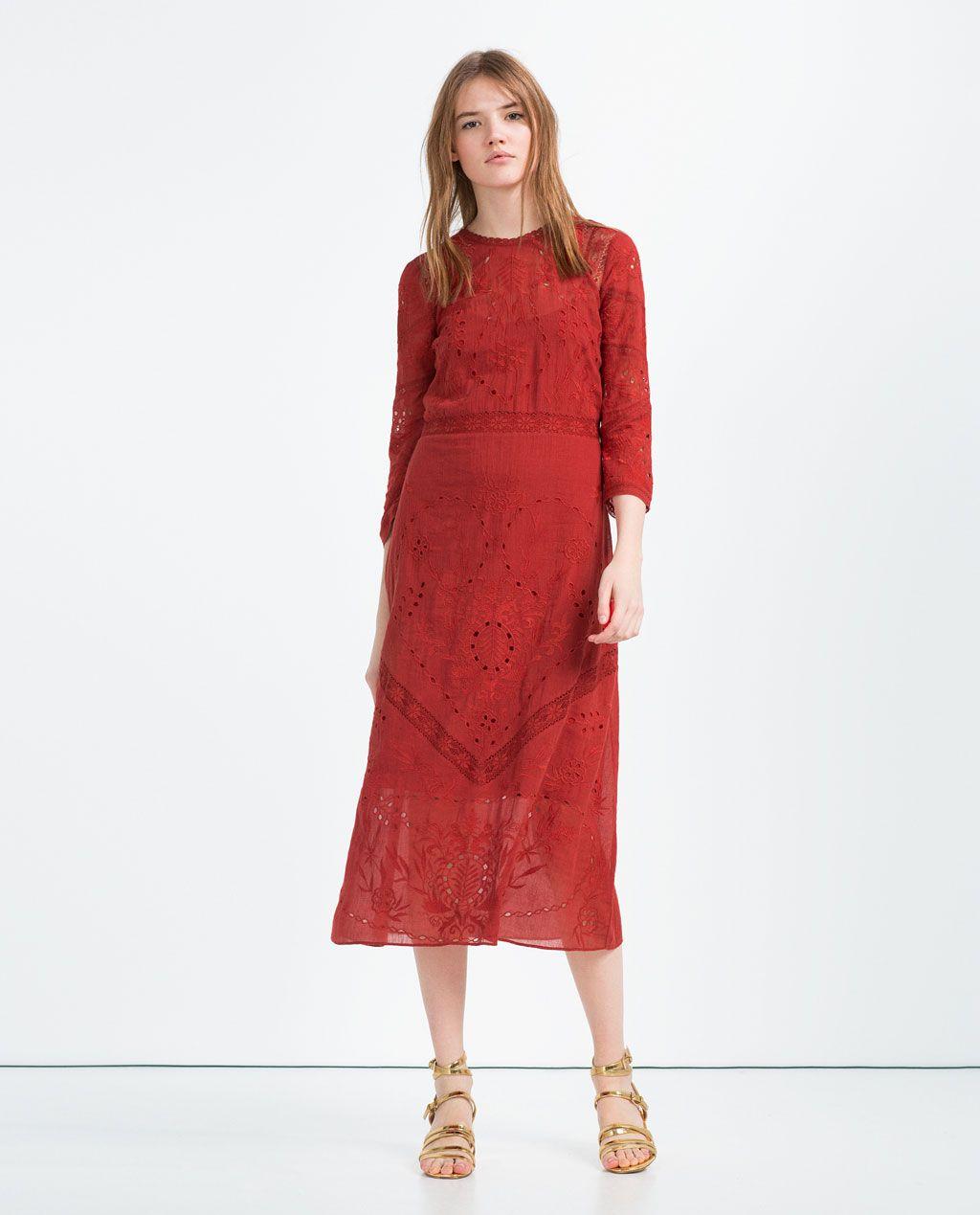 Embroidered dress dresses trf zara indonesia dresses pinterest embroidered dress dresses trf zara indonesia stopboris Images