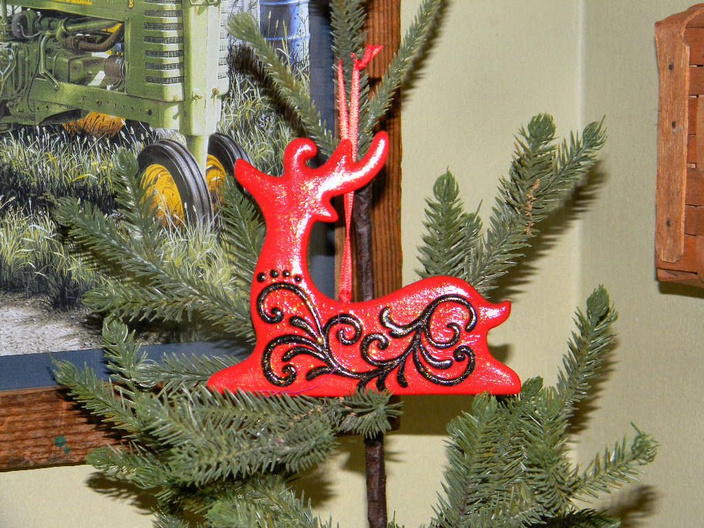 Handmade christmas ornaments on etsy - Red Deer Filigree Christmas Ornament Ceramic Hand Painted Ornament Handmade Christmas Ornament By Thecraftingemporium