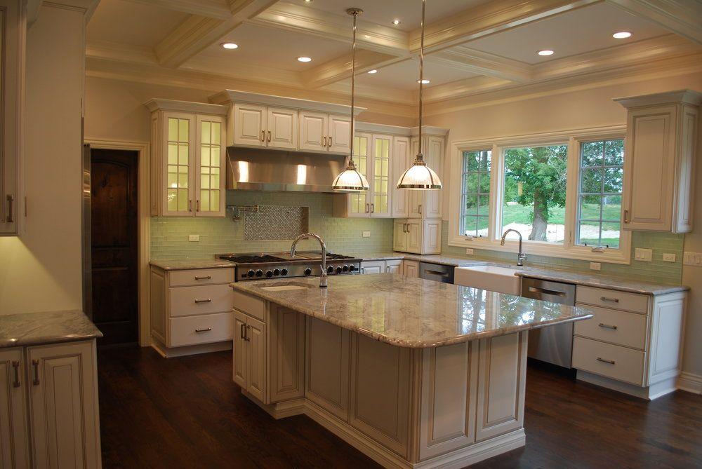White Kitchen With Super White Granite In Naperville Il Kitchen Updating Super White Granite Custom Kitchen Remodel Kitchen Remodel Complete Kitchen Remodel