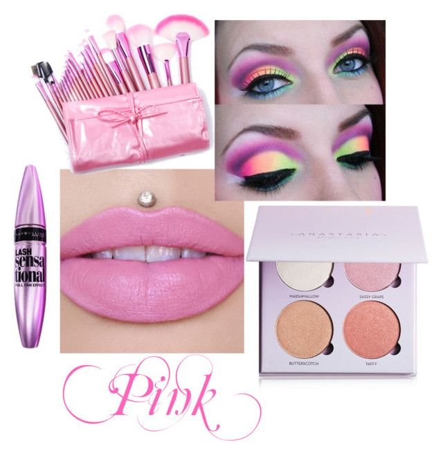 """Pink Face"" by autumn-to-ash on Polyvore featuring beauty and Anastasia Beverly Hills"