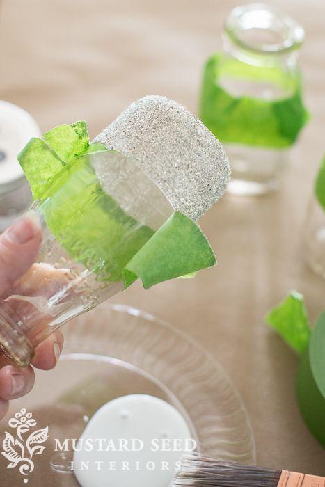 Milk Bottle Decorations Amusing Glass Glitter Milk Bottles  Miss Mustard Seed   Mms Tutorials Design Ideas