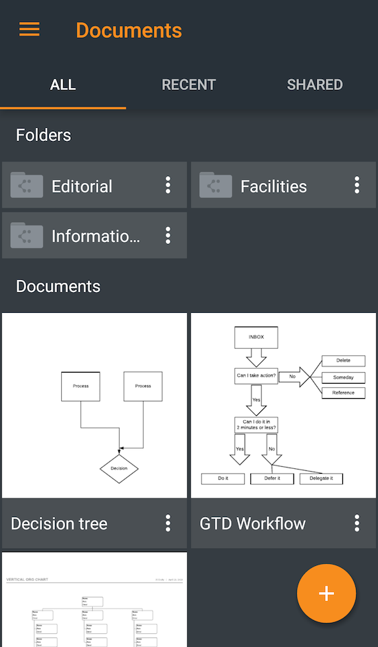 Lucidchart for Android Productivity apps, Android apps