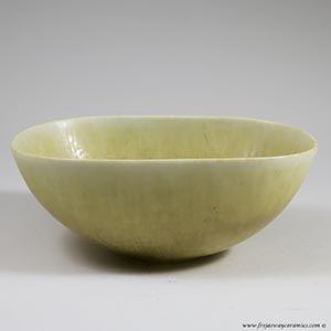 Carl Harry Stalhane for Rorstrand, light tan SYF bowl, hares'fur glaze