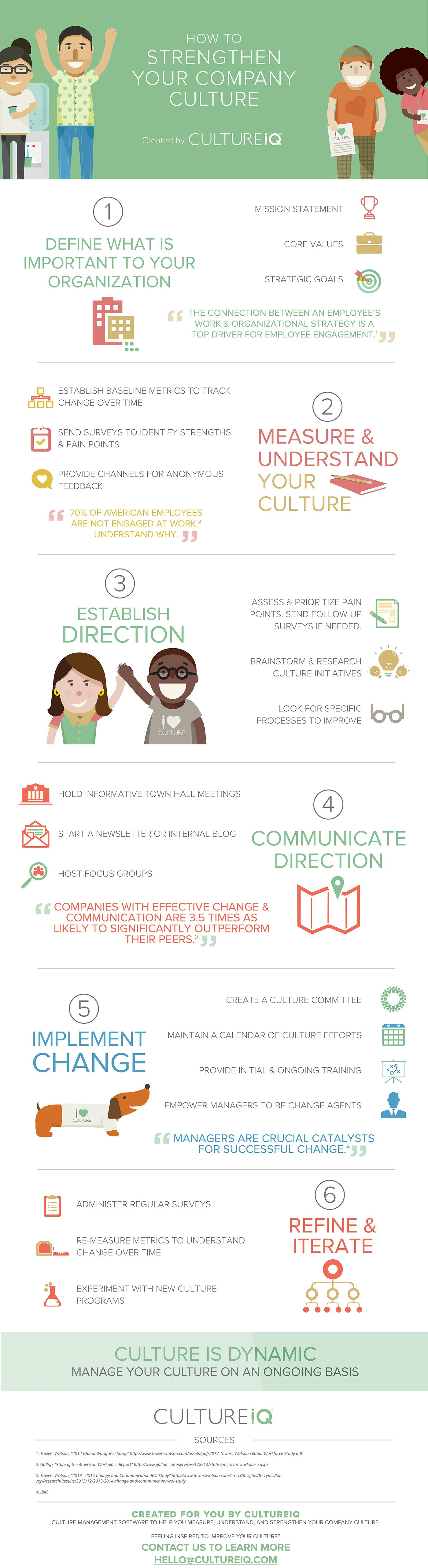 How To Strengthen Your Company Culture #infographic