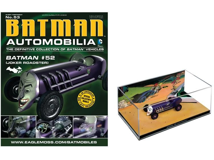 #053 - Batman #52 Joker Roadster 1/43 Scale Vehicle & Magazine - Batman Batman Automobilia Collection