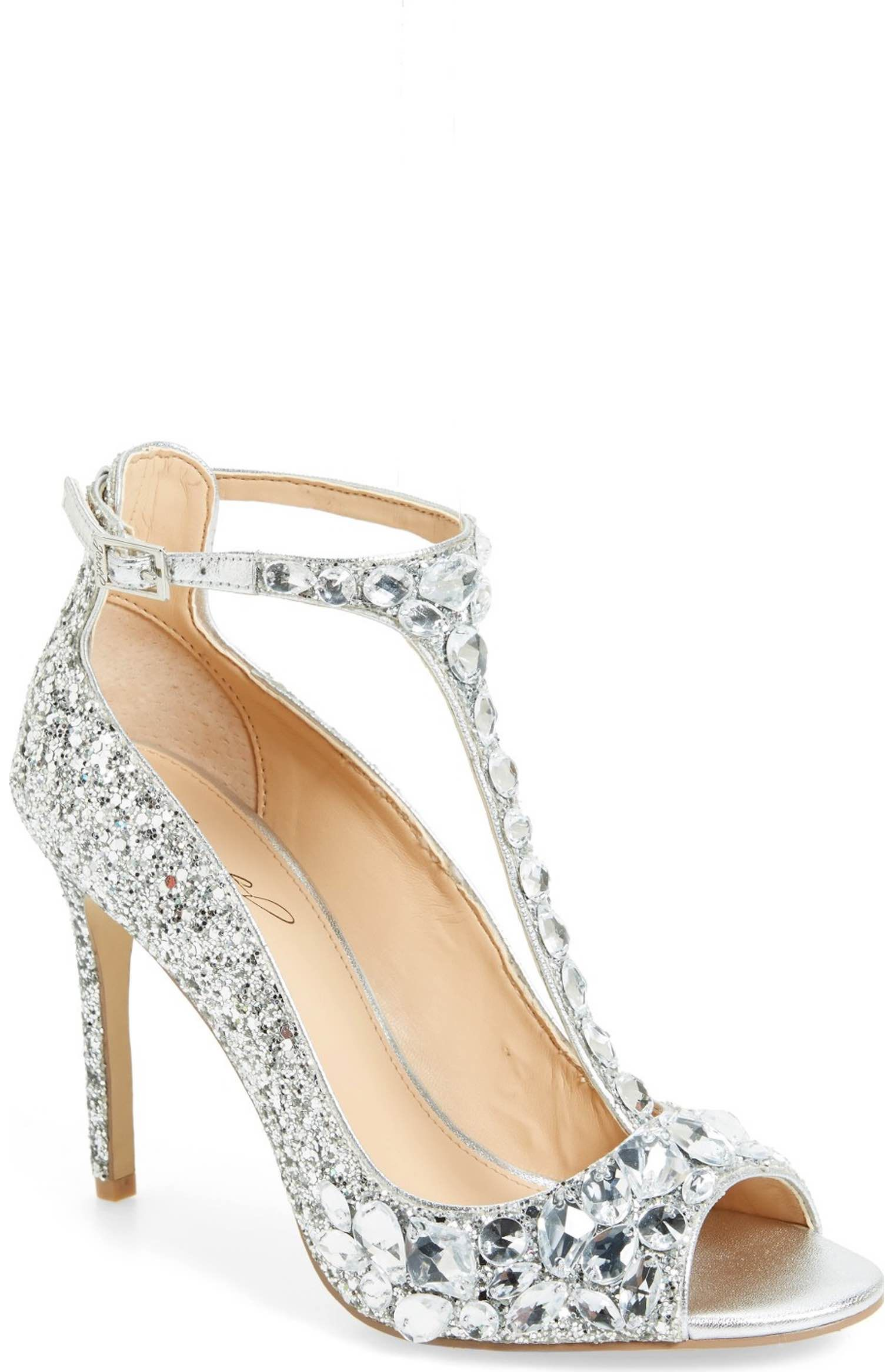 8aab4d4bd54 Main Image - Badgley Mischka Conroy Embellished T-Strap Pump (Women ...