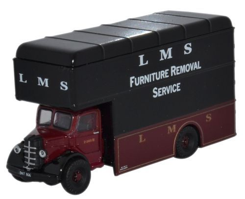 Oxford Diecast NBP48 Bedford Luton Van LMS Removal Service 484848 Magnificent Furniture Removal Services Model
