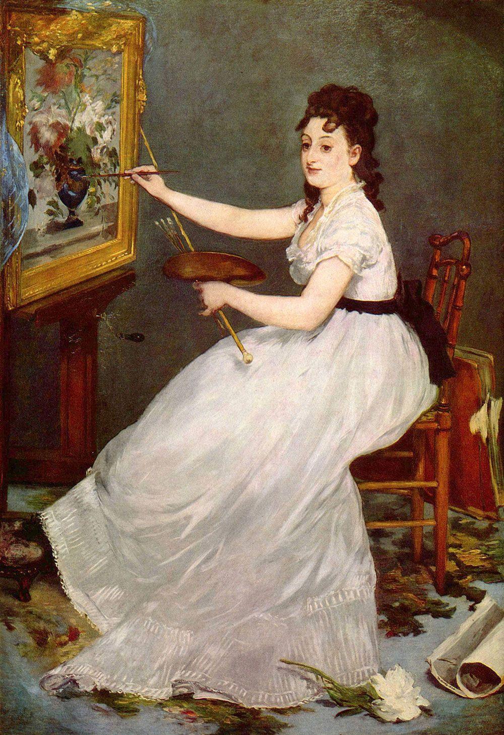Edouard Manet Eva Gonzales In Portresi Portrait Of 1870. Tuval Zerine Yalboya