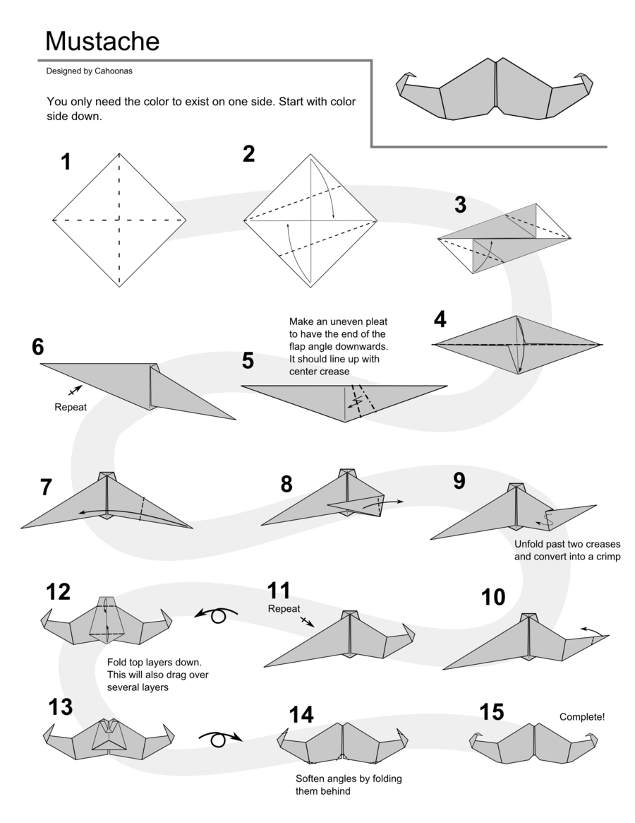 Origami instructions origami mustache instructions by cahoonas origami instructions origami mustache instructions by cahoonas on deviantart jeuxipadfo Choice Image