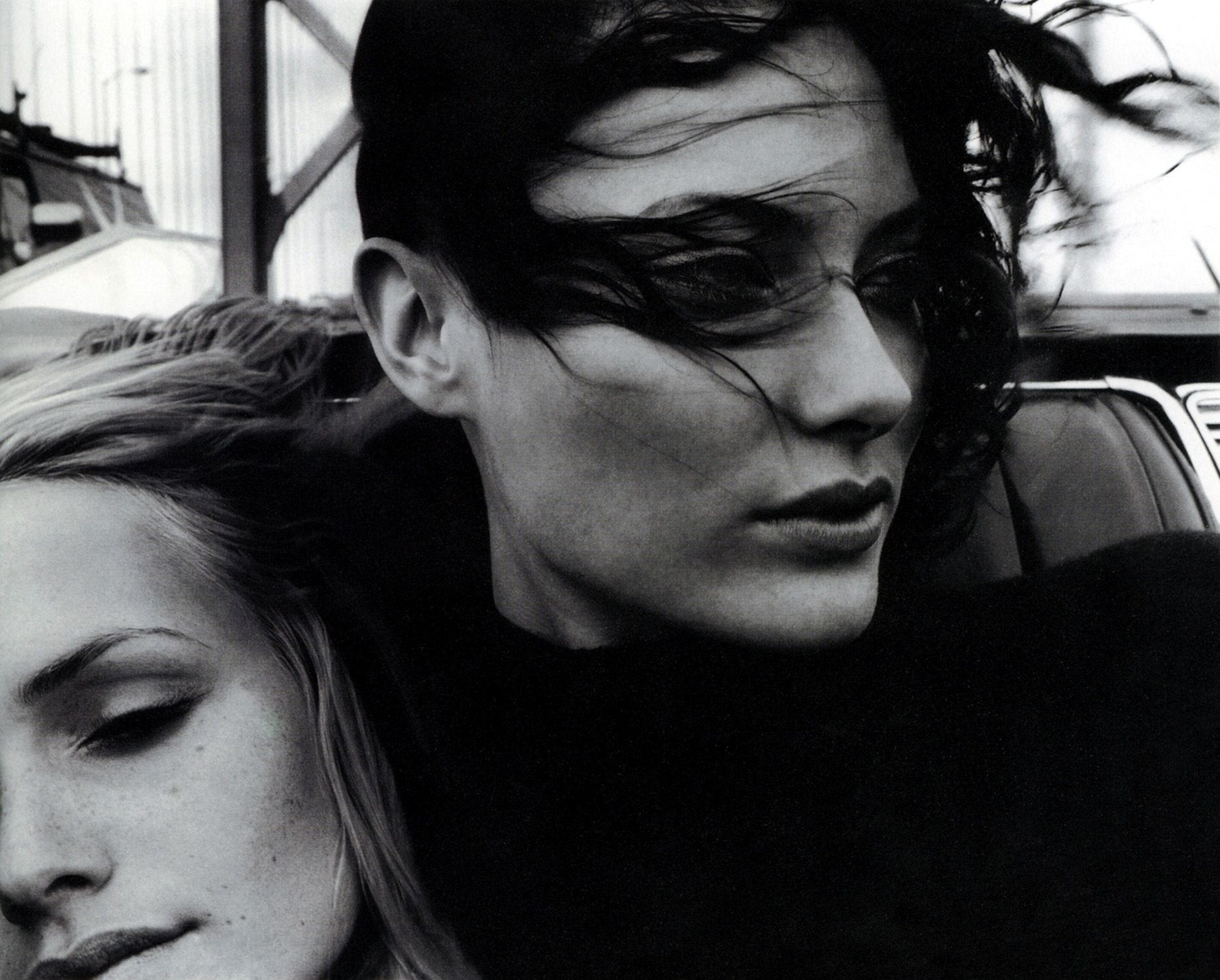 Amber Valletta and Shalom Harlow photographed by Craig McDean