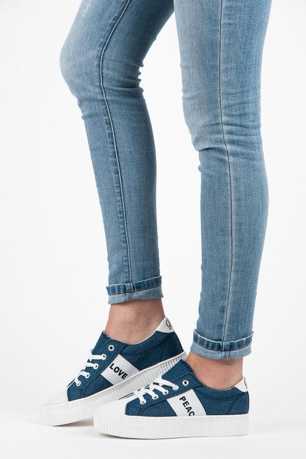 Trampki Na Platformie Love Peace Odcienie Niebieskiego Czasnabuty Pl Buty Damskie Meskie I Dzieciece Sneakers Adidas Sneakers Adidas Samba