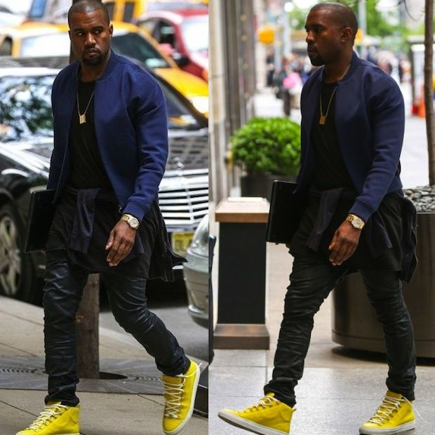 Kanye West Yellow Balenciaga Arena Sneakers A new take on