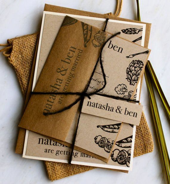 Recycled Paper Wedding Invitations: Eco-Friendly Wedding Invitation Suite