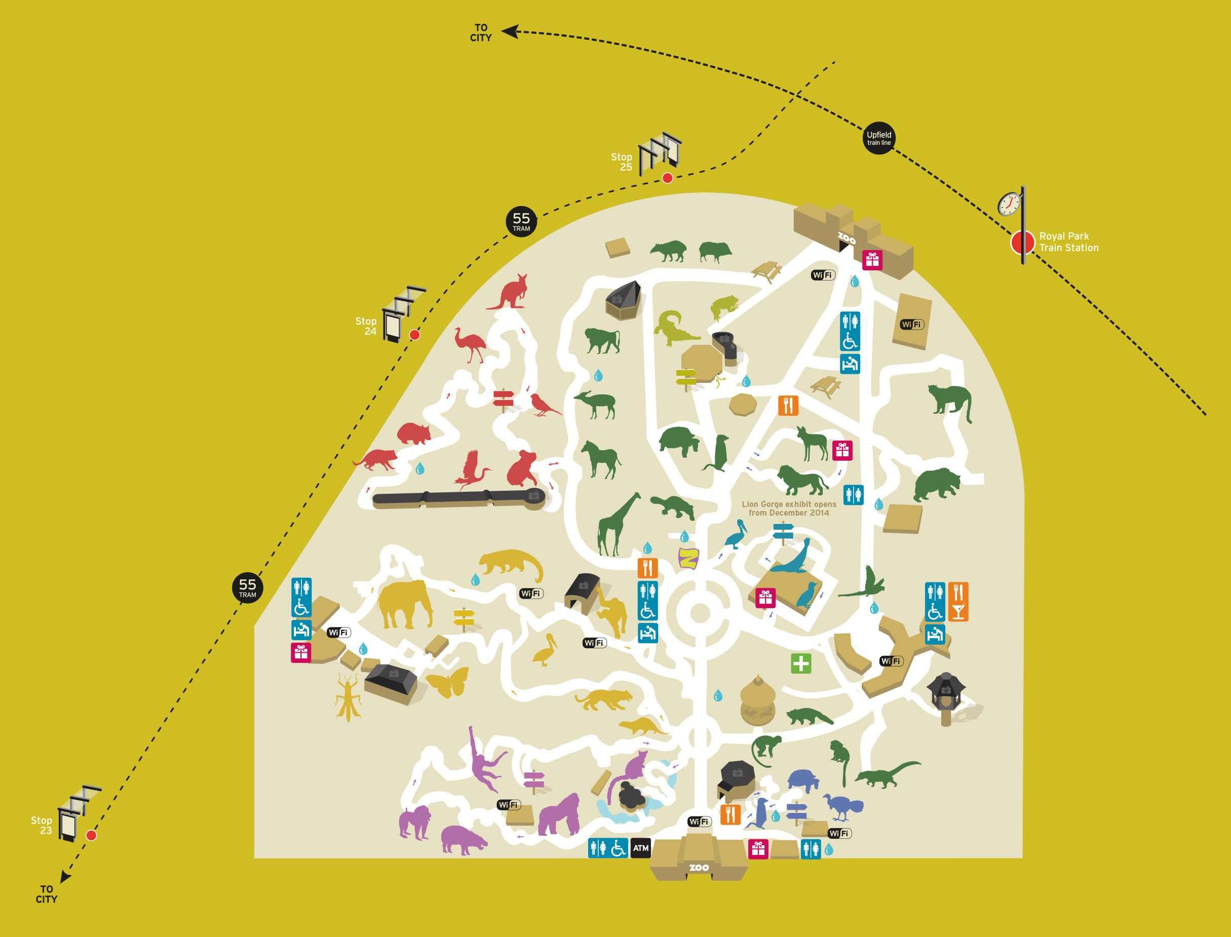 Melbourne Zoo Map Zoo map   Zoos Victoria, Melbourne   Zoos Around the World  Melbourne Zoo Map