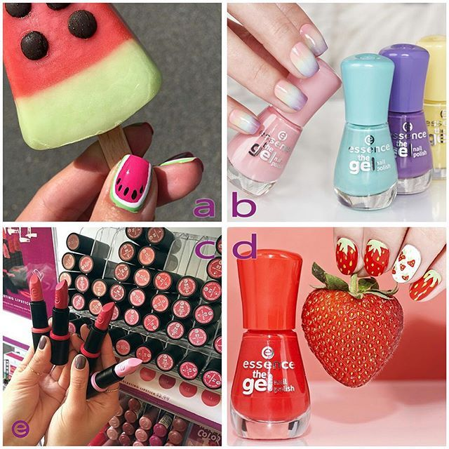 here are our top four most popular pics from last month emoji️ which one is your favourite? #essence #cosmetics #essencecosmetics #makeup #beauty #topposts #top4 #bestof #abcd #gelnailpolish #watermelonnails #gradientnails #nailpolish #lipstick #rednails #strawberrynails #summertime #thankyou