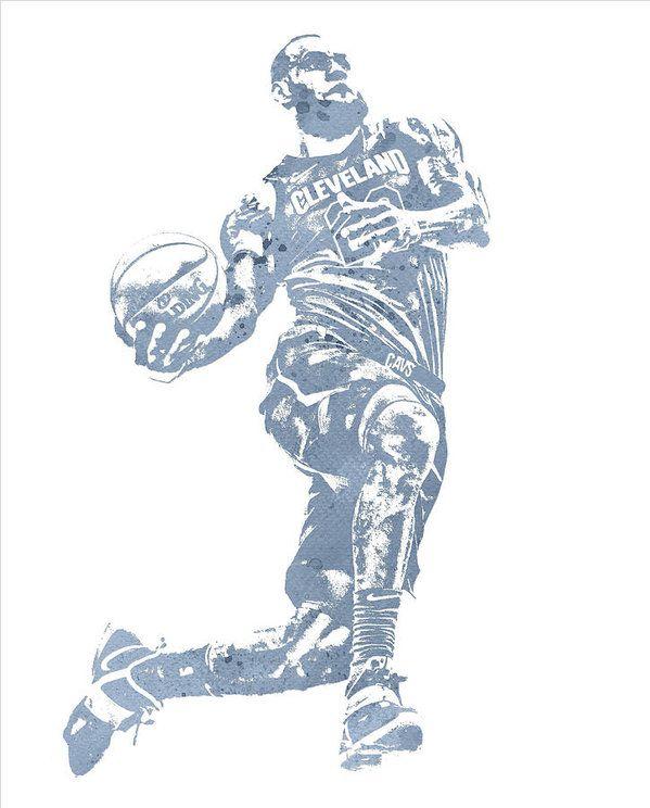 b99c79ce0bf Lebron James Cleveland Cavaliers Water Color Pixel Art 20 Art Print by Joe  Hamilton