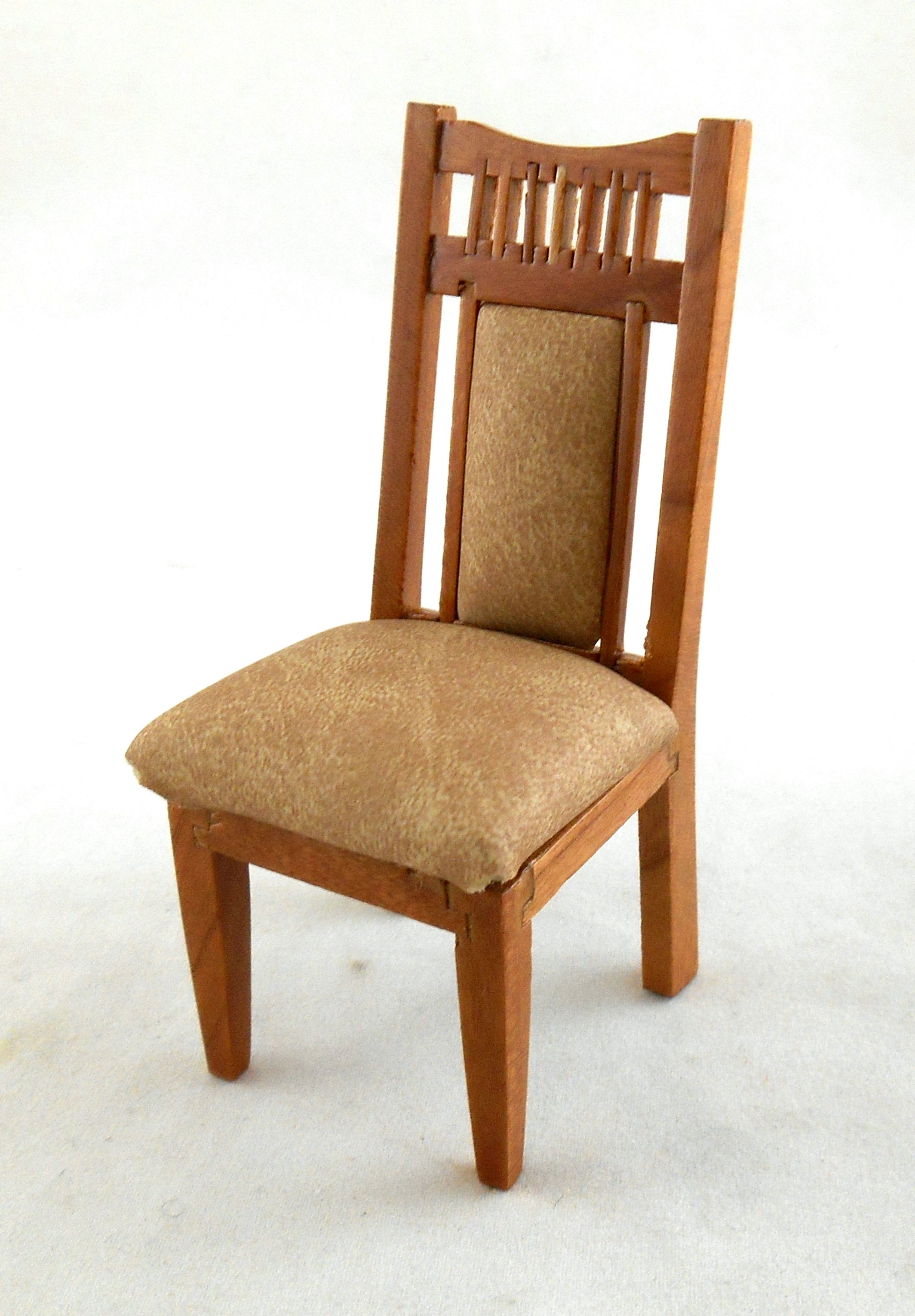 Agreeable Pecan Wood Dining Room Chairs