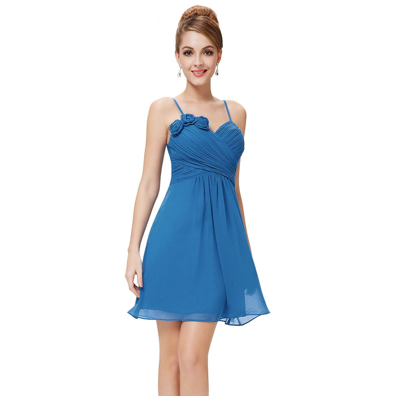 Cool Short Chiffon Bridesmaid Prom Dress Wedding Evening 05115 Size ...