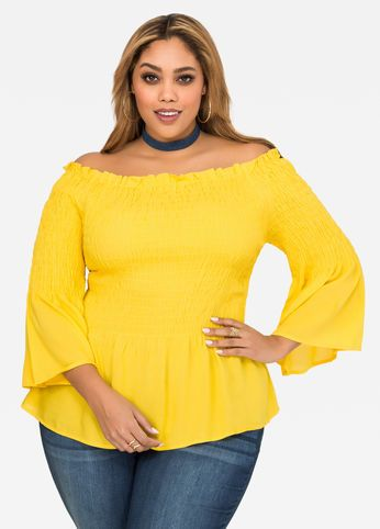 8b189ddcb0c Ashley Stewart · Off Shoulder Tops · Bodice · Plus Size Fashion · null  Peasant Blouse