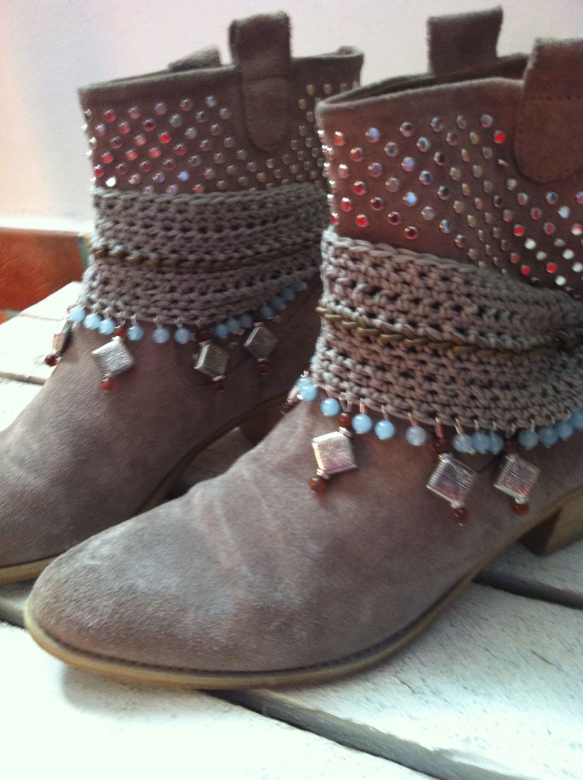 Cubre botas crochet/Crocheted boot covers | Crochet and Knitting # 2 ...