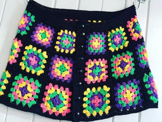 Una falda de ganchillo de abuela línea Plaza | tığ işi | Pinterest ...