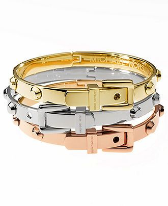 Michael Kors Bracelets Tri Tone Belt Buckle Bangles Fashion Jewelry Watches Macy S