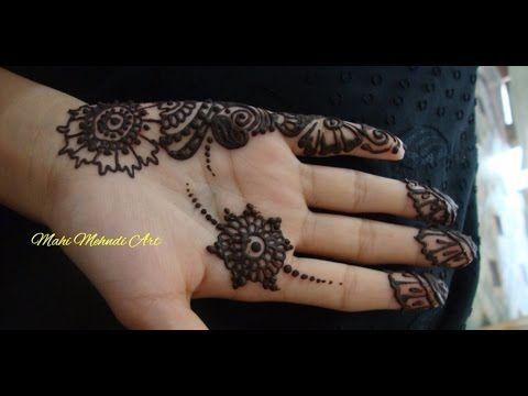 Mehndi Art Simple : Simple henna art for your princess hands by mahi mehndi