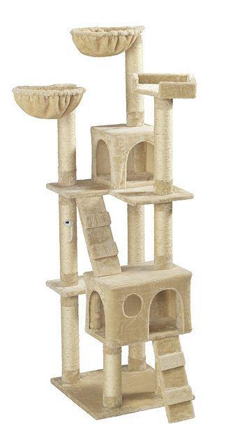 kratzbaum coco bxtxh 50x50x170 cm beige cats and kittens kratzbaum katzen baum. Black Bedroom Furniture Sets. Home Design Ideas
