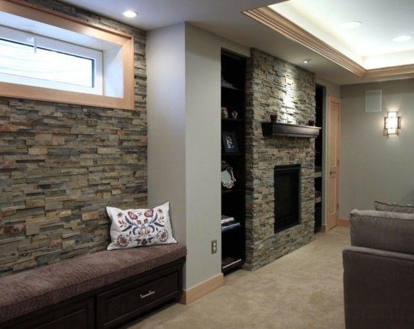 Steinwände im Innenraum Moderne Einrichtungssstrategien Pinterest - moderne steinwande wohnzimmer