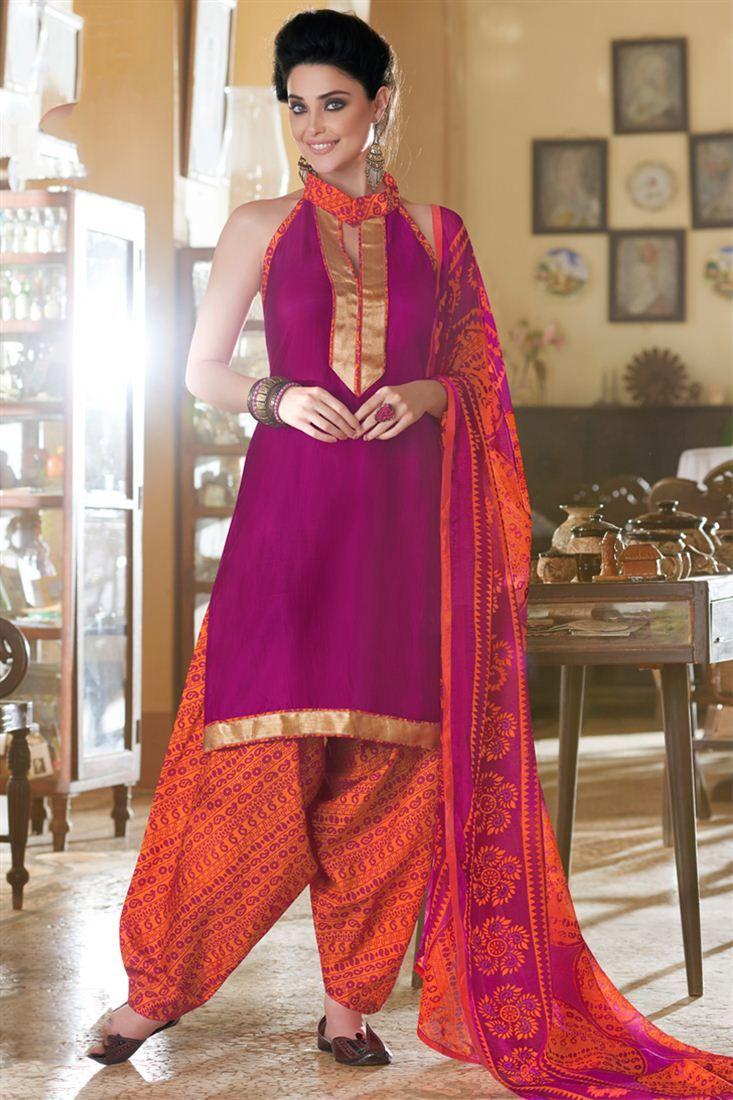 a57d02dc84 Charming Purple color Patiala Salwar Kameez Patiala Salwar Suits, Shalwar  Kameez, Panjabi Suit,