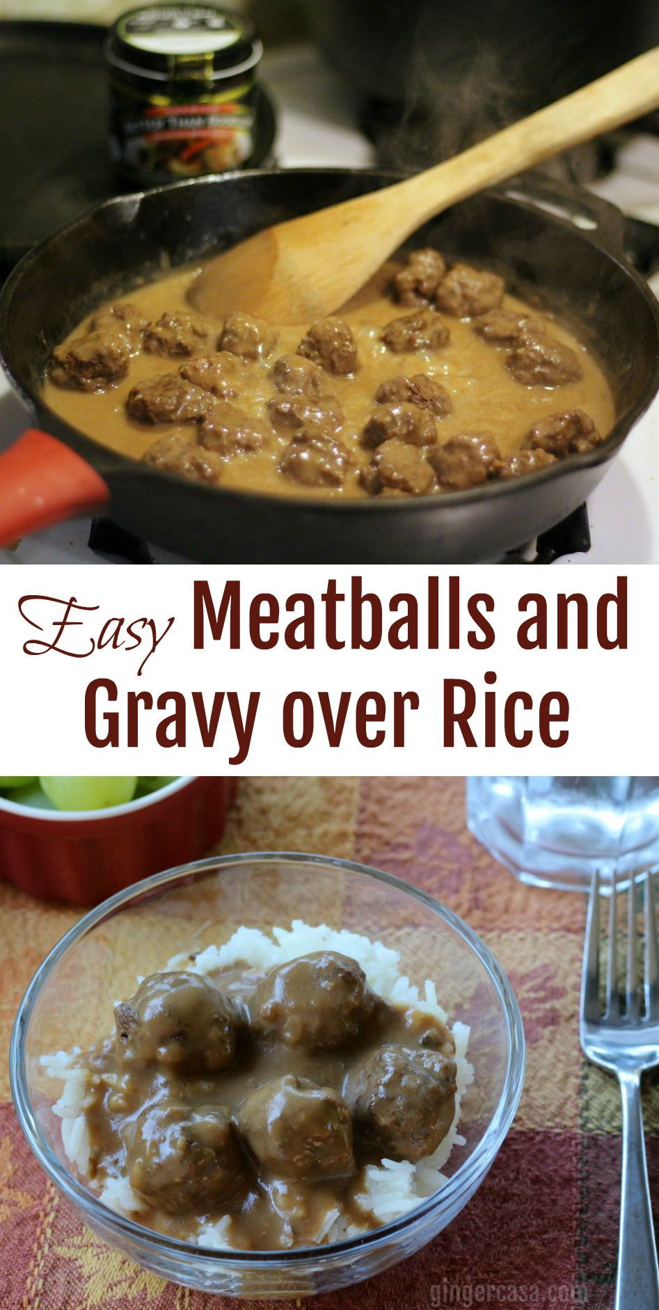 Photo of Meatballs and Gravy over Rice – An Easy Recipe for the Whole Family!