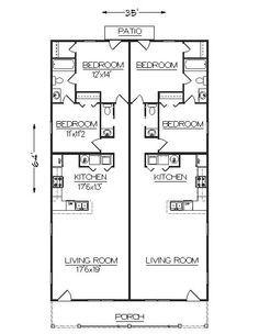 Duplex J2030d Plansource Duplex Plans Duplex Plans Duplex Floor Plans Hotel Floor Plan