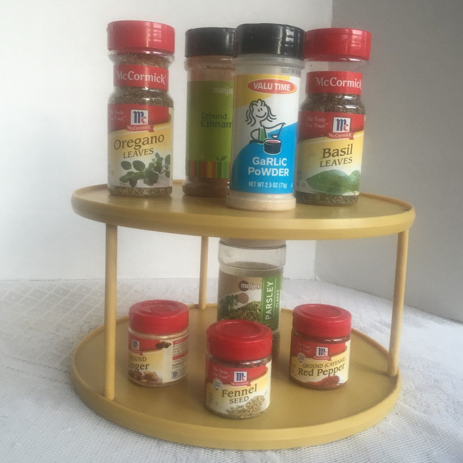 Lazy Susan Spice Rack Delectable Keep All Of Mom's Spices Handy With This Vintage Lazy Susan Which Design Inspiration
