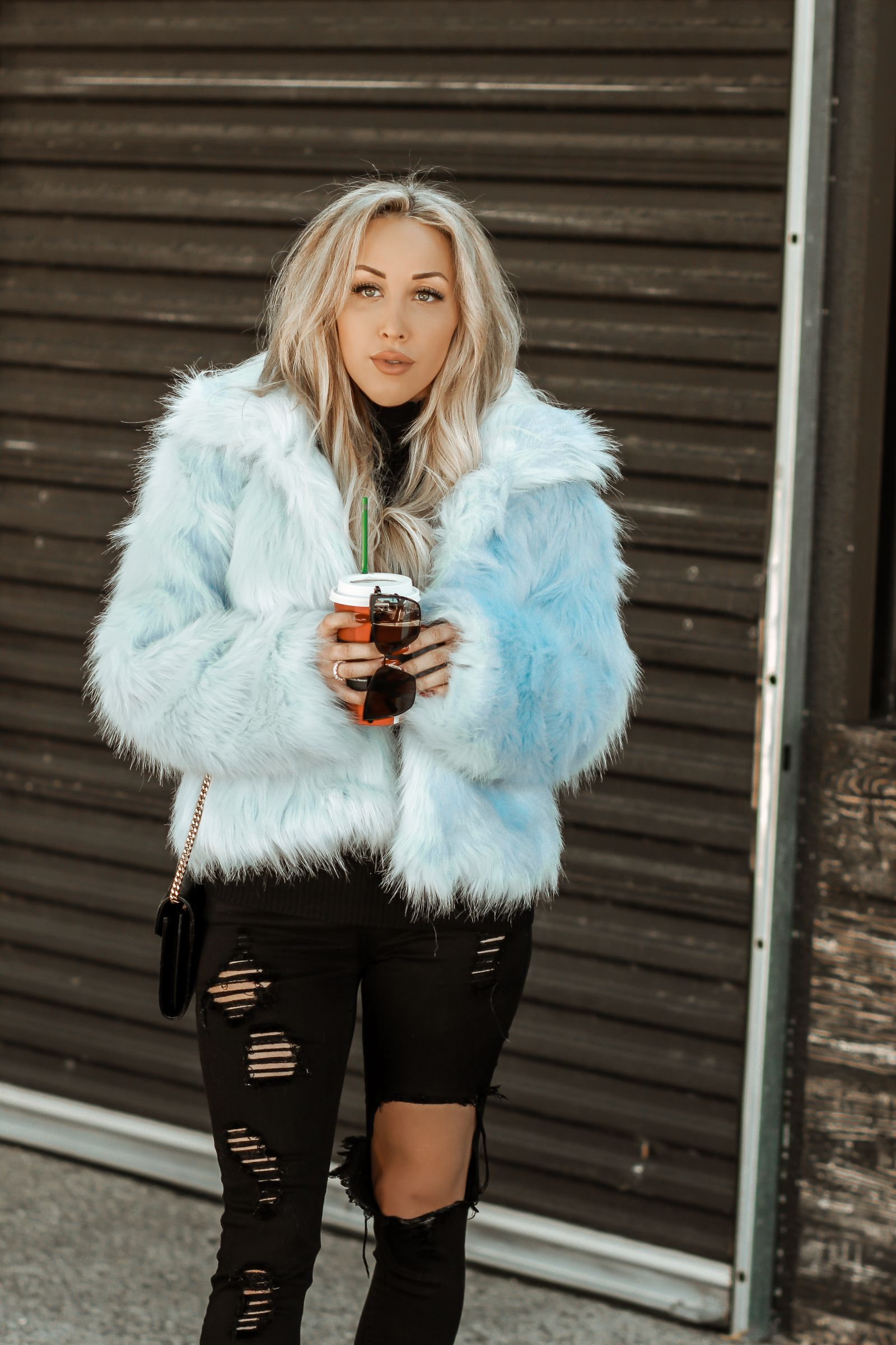 Baby Blue Faux Fur Blondie In The City Blue Faux Fur Coat Blue Fur Coat Pastel Faux Fur Coat
