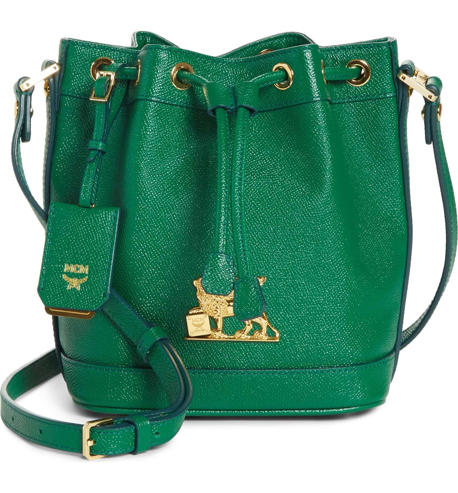 d28ef452bf3 #MCM Mini RGB Drawstring Crossbody Bag | Rich, brilliant color saturates a  stunning, mini-sized drawstring bag crafted in supple full-grain leather  and ...
