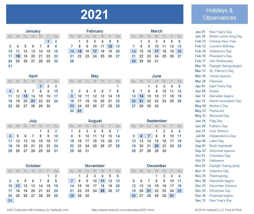 Free Yearly Calendar 2021 Portrait Position di 2020